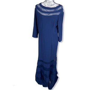 Xscape 3/4 sleeves column gown- 14W